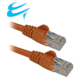 1M RJ45 Cat5e UTP Stranded snagless Network Cable ORANGE