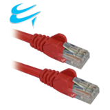 1M RJ45 Cat5e UTP Stranded snagless Network Cable RED
