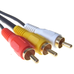2M Audio/Video cable - 3 x RCA Phono Male to 3 x RCA Phono