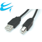 5M USB 2 Connection cable - A Male to B Male Printer etc(Black)
