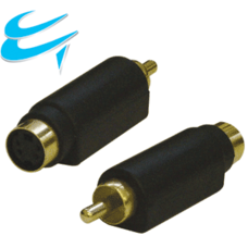 SVHS Socket to RCA (Phono) Male adapter