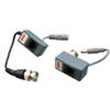 Video Balun With Power Tx + Rx Send Video And Power Using Cat5E Cabling Comes With Transmitter And Receiver Unit BNC To Utp Video/Power Transceiver Transmission Range: 300M (Video Only) 100M (With Power Transmission