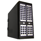 800 Series 800B Server Chassis 4X 5.25 2X3.5(External) 5X3.5(Internal) 2X80Mm Rear Fan Psu Not Included Black