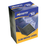Dvd Case/Black Slimline Movie Case 10Pk
