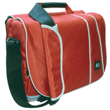 Messenger Shoulder Pack-Ii Notebook/Laptop Bag/Carry Case [Red/Grey]