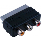 Scart (In) Adaptor To 3 Phono (Out)