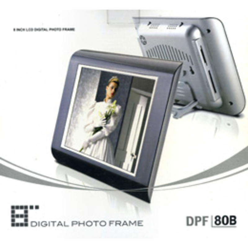 Stak - 8 inch Digital Photo Frame That Displays Photos And Videos