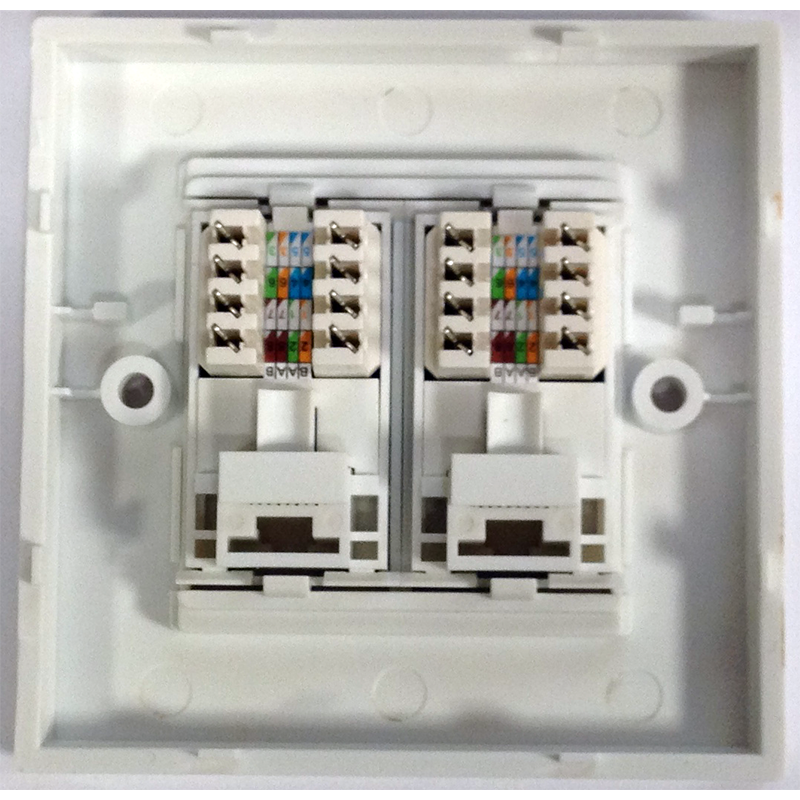 Stak Rj45 Cat5 Double Wall Plate Socket Pattress Back Box