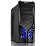 Octigen GB2 Shiny Black Gaming Tower Case - Blue LED Fan - (Micro-ATX/ATX)