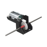 DC Electric Motor with Worm Drive Gearbox