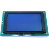 128x64 Graphic LCD - White pixels, Blue backlight KS0107 KS0108