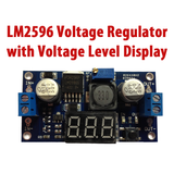 LM2596 DC-DC Step Down Voltage Regulator Board With LED Display 4.5V to 40V INPUT - 1.2V to 30V OUTPUT