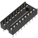 "Dual-in-Line IC socket - 18 pin, 0.3"" pitch, DIP"