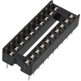 "Dual-in-Line IC socket - 20 pin, 0.3"" pitch, DIP"