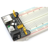 Solderless Breadboard Power Supply - 3.3V and 5V - DC Jack and USB connector, the easy way to get power to your breadboard