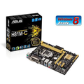 ASUS H81M-C (Socket 1150/H81/DDR3/S-ATA 600/Micro ATX) (Stak: 13, Supplier: 473)