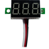 Digital Voltmeter with LED Display - 0V to 32V Red Blue Green option
