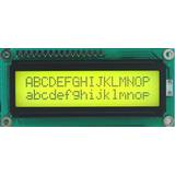 HD44780 Alphanumeric LCDs - 2x16 - Yellow backlight, Black pixels