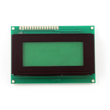 HD44780 Alphanumeric LCDs - 4x16 - Green backlight, Black pixels