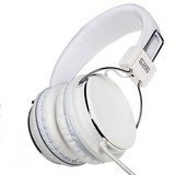 LMH Data Stereo Full Size Headset - White, for your iPhone, Smart Phone and iPod, comes with 4 pole Jack Connector