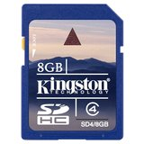 Kingston Secure Digital Card Class 4 - 8GB