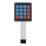 Membrane Keypad - 16 button 4 x 4 matrix keypad