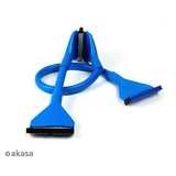 Round IDE ATA133 Hard Disk Cable - 45cm, Blue
