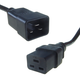 2M IEC Mains extension cable - IEC C20 Male to IEC C19 Female