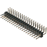 "0.1"" (2.54mm) Right Angle Double Header Pins - strips of 40x2"
