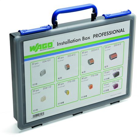 Wago Pro Installation Case Box With 240 Various Connectors