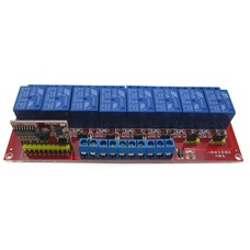 Infrared remote Relay Control Module 5V 8-Channel High Low Level Trigger