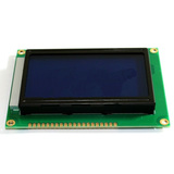 128x64 Graphic LCD - White pixels, Blue backlight ST7920