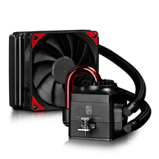 Deepcool GamerStorm Captain 120EX Liquid CPU Cooler, 120mm Radiator, 1 x 12cm Fan, Bionic Red LED
