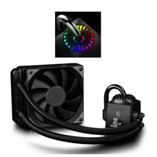 Deepcool GamerStorm Captain 120EX RGB Liquid CPU Cooler, 120mm Radiator, 1 x 12cm Fan, RGB Lighting, Aura Sync