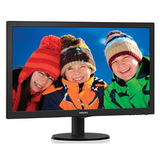 "Philips 23.6"" Widescreen TN W-LED Black Monitor (1920x1080/1ms/VGA/DVI/HDMI)"