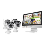 HomeGuard All-in-One Wireless HD CCTV Kit - 4 Channel + 4 Cameras