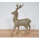 Reindeer Glitter Gold Stands Proud at 31cm high