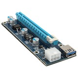 PCI-E 1x to 16x powered Riser Card Mining 6 Pin Card ONLY