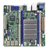 Asrock Rack Server Board, Integrated CPU, Mini ITX, Dual GB LAN, Serial Port, IPMI LAN