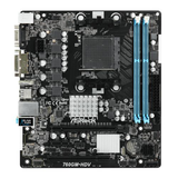 Asrock, AMD 760G, AM3+, Micro ATX, 2 DDR3, VGA, DVI, HDMI, 125W CPU Support