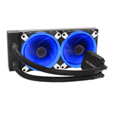 Antec Kuhler H20 K240 Liquid CPU Cooler, 2 x 12cm Blue LED PWM Fans, Low Profile