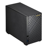 ASUSTOR 2-Bay NAS Enclosure (No Drives), Dual Core 1.6GHz CPU, 512MB, USB3, GB LAN, Diamond-Plate Finish