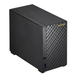 ASUSTOR 2-Bay NAS Enclosure (No Drives), Dual Core CPU, 2GB DDR3L, HDMI, USB3, Dual GB LAN, Diamond-Plate Finish