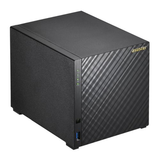 ASUSTOR 4-Bay NAS Enclosure (No Drives), Quad Core CPU, 2GB DDR3L, HDMI, USB3, Dual GB LAN, Diamond-Plate Finish