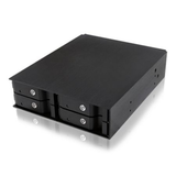 Icy Box Backplane for 4 x 2.5 HDD/SSD Drives, Fits 5.25 Bay, Aluminium, Lockable
