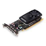 PNY Quadro P1000 Professional Graphics Card, 4GB DDR5, 4 miniDP 1.2 (4 x DVI adapters), Low Profile (Bracket Included