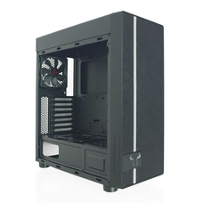 Riotoro Gaming Case with Window, ATX, No PSU, Mesh Front, 2 x 12cm Fans (Red LED Front Fan), USB 3.0