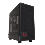 Riotoro Gaming Case with Window, ATX, No PSU, Tempered Glass, 2 x 12cm Fans, Black