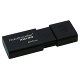 Kingston 64GB USB 3.0 Memory Pen, DataTraveler 100 G3, Black, Sliding Cap