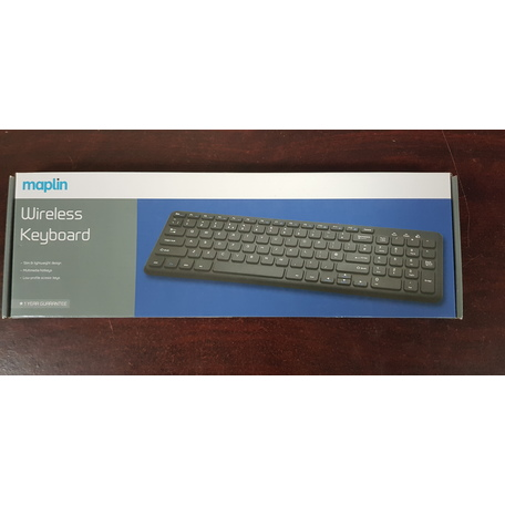 Maplin Wireless Slim Multimedia Mini Keyboard